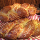 Golden Sesame Braid Bread