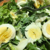 Lettuce Salad with Hard Boiled Eggs & Homemade Dressing