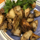 Roasted Potatoes with Three Herbs - Rosemary, Thyme, and Basil