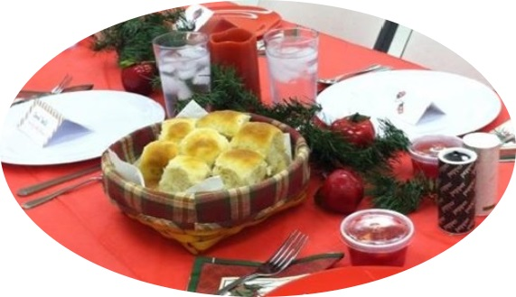 Christmas Dinner widows oval