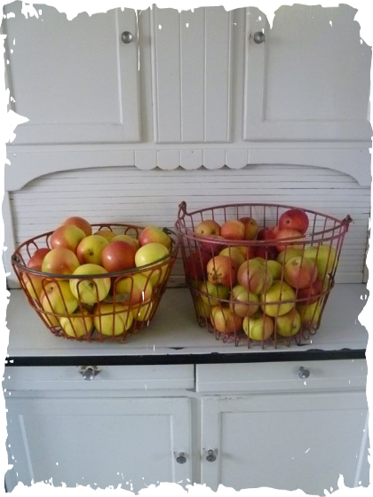apples hoosier cabinet