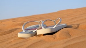 sand with sandals