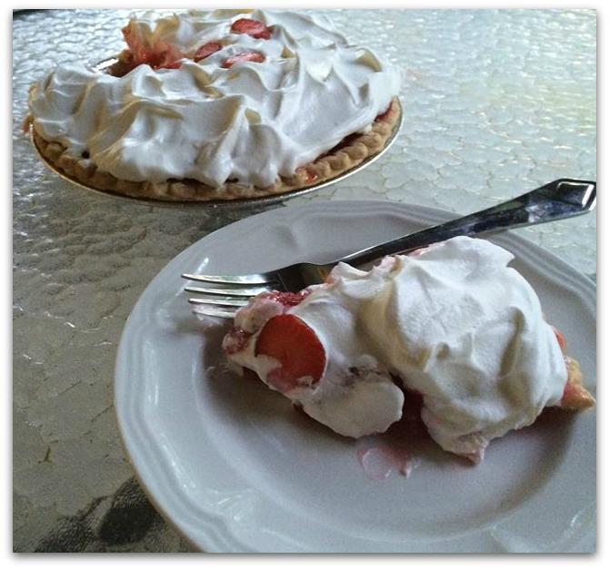 strawberry pie piece and pie C