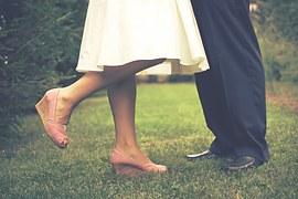 GARDEN man woman legs