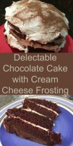 Pinterest Delectable chocolate cake with cream cheese frosting