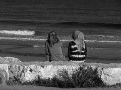 RUTH and Naomi black and white