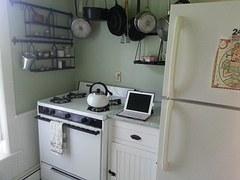 kitchen corner with ipad