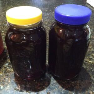 TEA in jars with lids