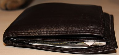 church man's wallet