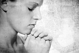church woman praying
