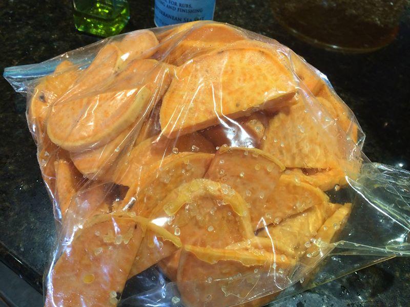 sweet potatoes in bag