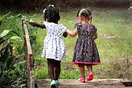 trenches children girls