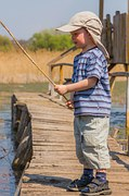 kids boy fishing