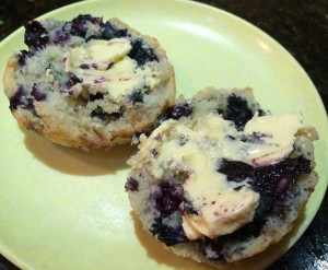 blueberry muffin with butter 2