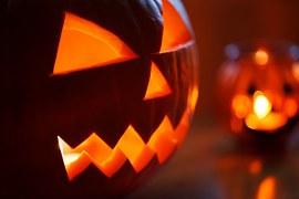 pumpkin light inside face