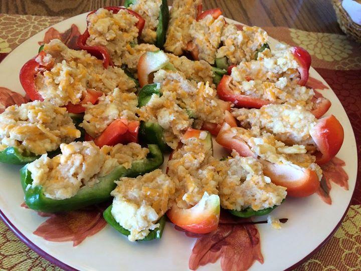 stuffed pepper slices