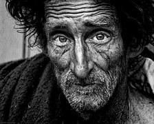 pilgrim homeless man
