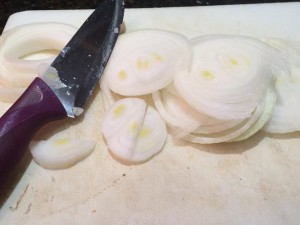 pork chops onions sliced
