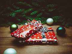santa gifts under tree