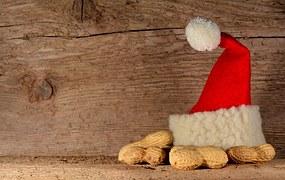santa hat and peanuts