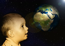 wonder boy with globe