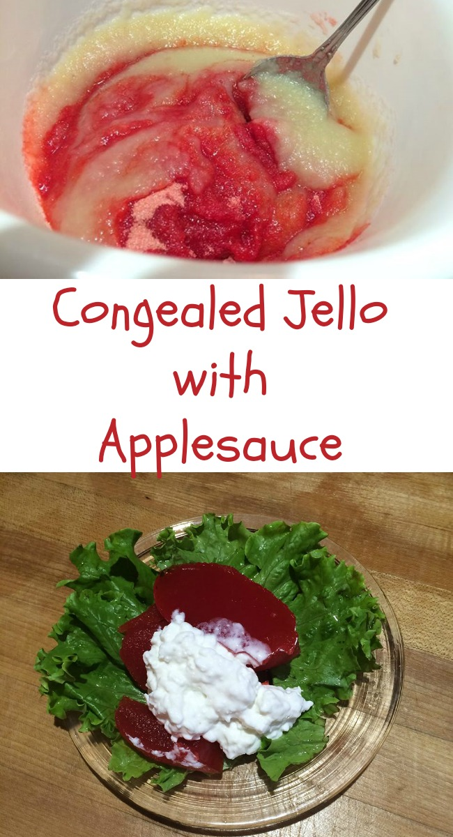 Pintrest Congealed Jello with applesauce