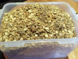 granola in open container