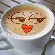 old coffee heart lips