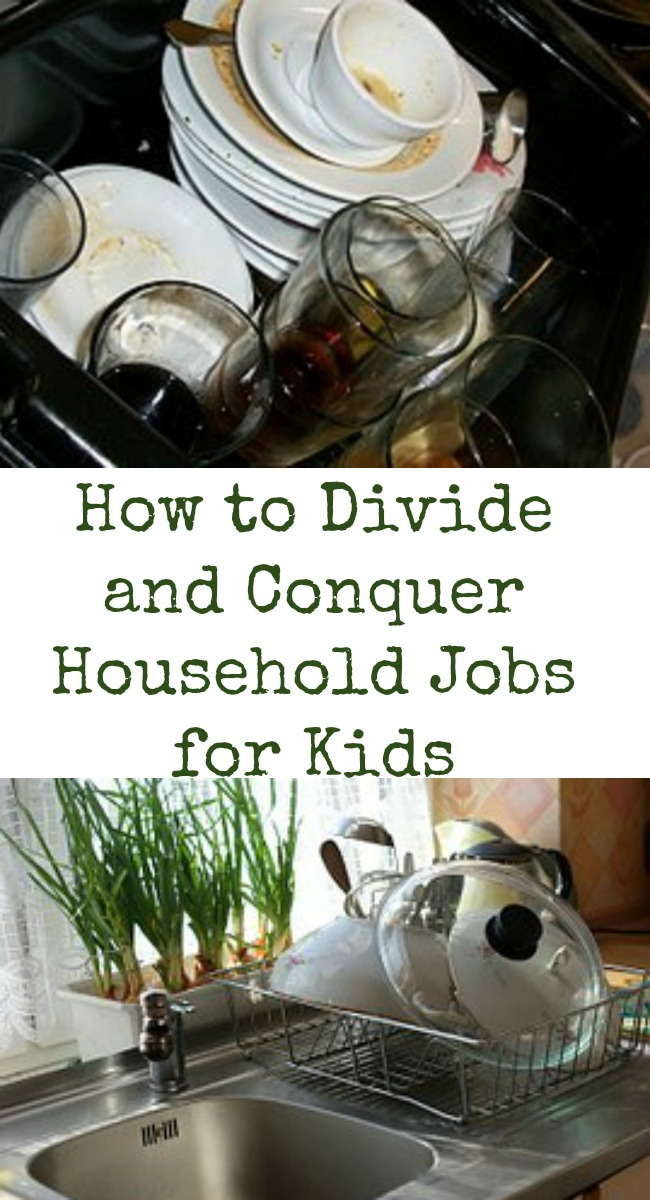 pinterest divide and conquer household jobs