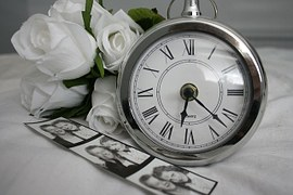 memories pocket watch photo and rose