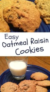Pinterest easy oatmeal Raisin Cookies
