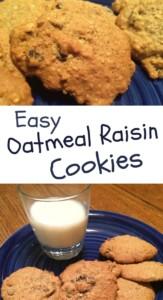 Pinterest easy oatmeal Raisin Cookies