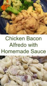 Pinterest Chicken Bacon alfredo sauce