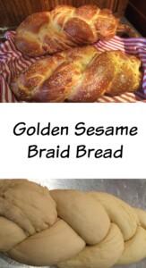 sesame braid bread