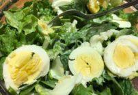 Lettuce Salad with Hard Boiled Eggs & Homemade Dressing
