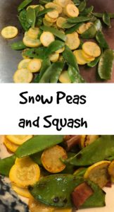 snow peas and squash