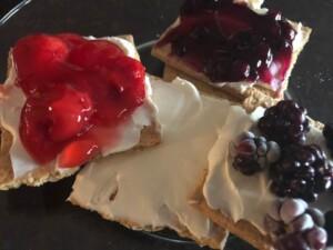 cream cheese fruit snack