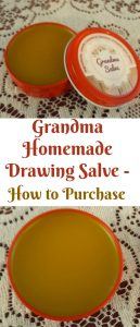Grandma homemade drawing salve