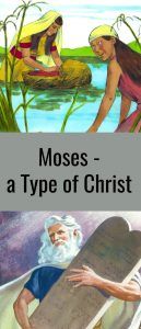 Moses a type of Christ pinterest