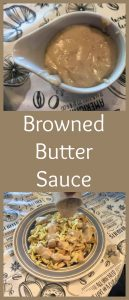 Pinterest browned butter sauce
